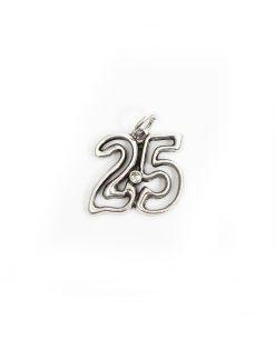 ciondolo 25 per nozze argento tabor made in italy