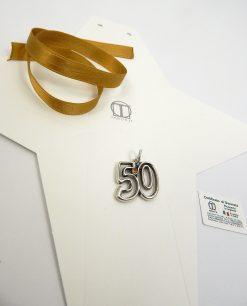 ciondolo 50 anni di matrimonio con cristallo oro tabor