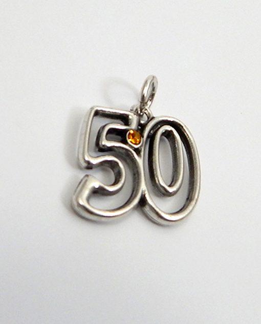 ciondolo 50 argento con strass dorato tabor