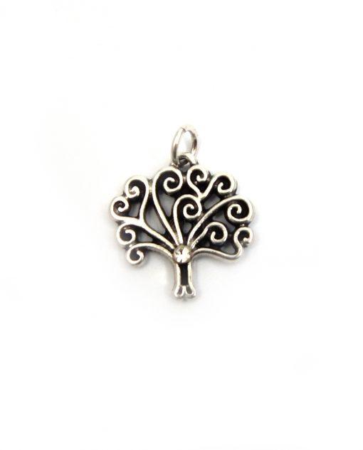ciondolo albero della vita in argento con strass bianco tabor