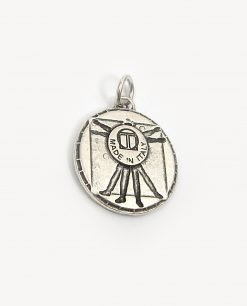 ciondolo argento made in italy uomo vitruviano tabor