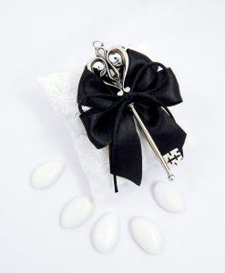 ciondolo chiave bomboniera in argento