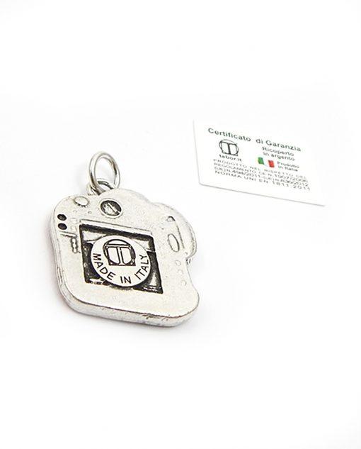 ciondolo fotocamera in argento e smalto tabor