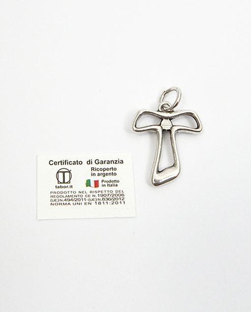 croce argento ciondolo tabor