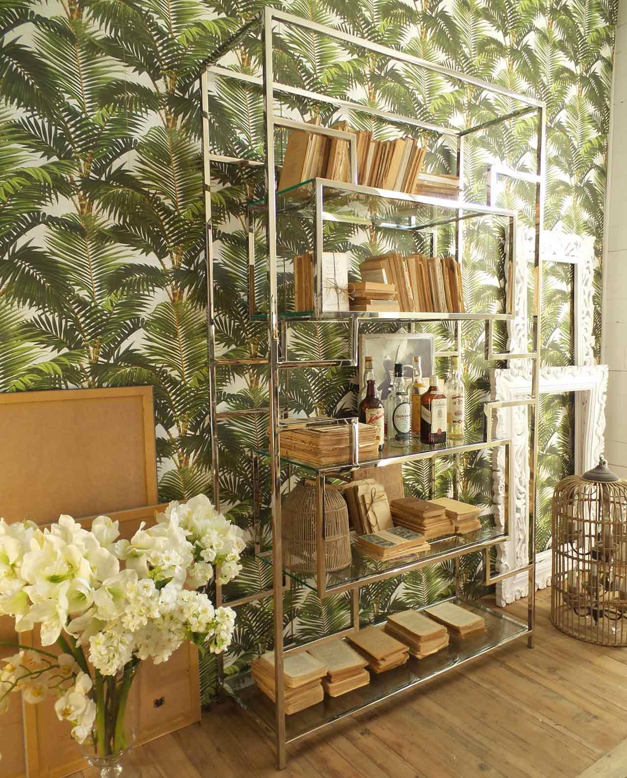 Libreria Metallo E Vetro.Libreria Alta Moderna In Vetro E Acciaio