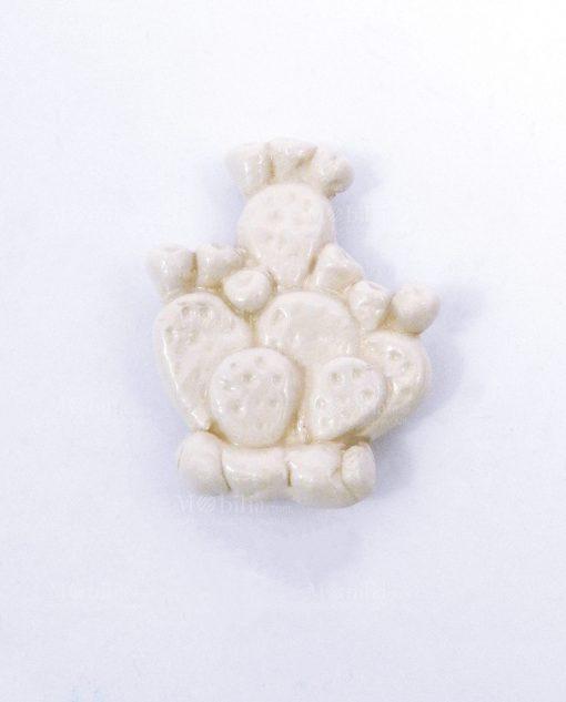 magnete cactus bianco ceramica artigianale di caltagirone per bomboniere