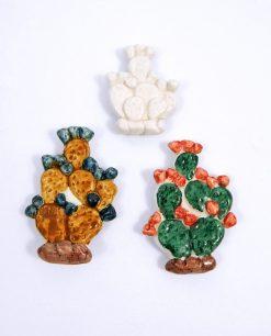 magneti in ceramamica di caltagirone a forma di fichi dindia