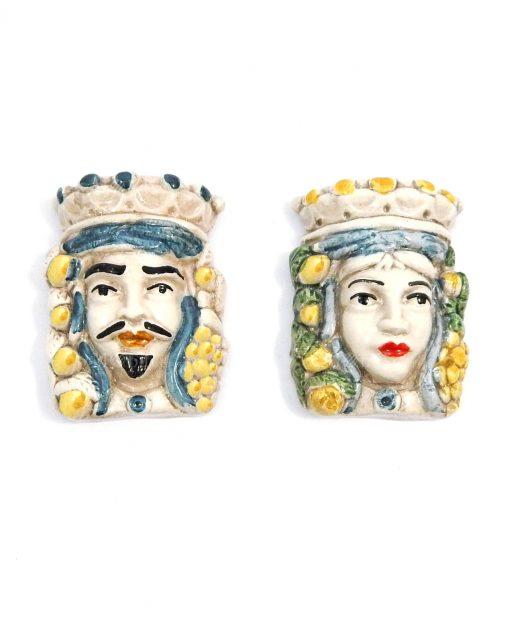 magneti teste di moro re e regina per bomboniere