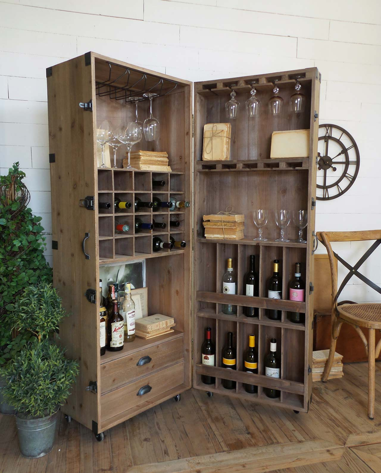 Mobile bar aviator portabottiglie in legno mobilia store - Mobile bar per casa ...