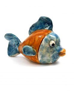 pesce da appoggio ceramica colorata di caltagirone