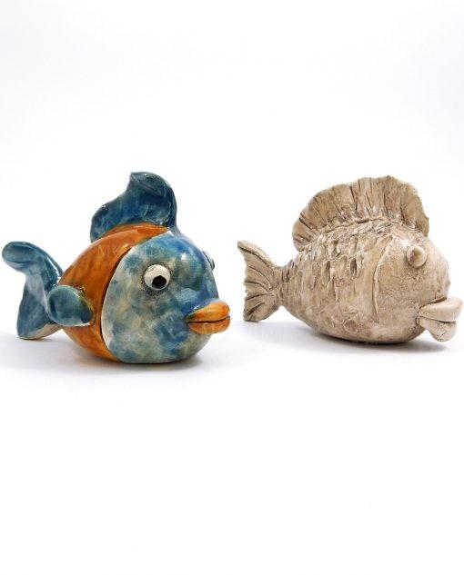 pesci in ceramica artigianale di caltagirone