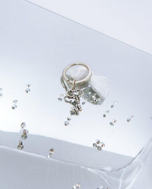 portachiavi argento per bomboniere con chiave