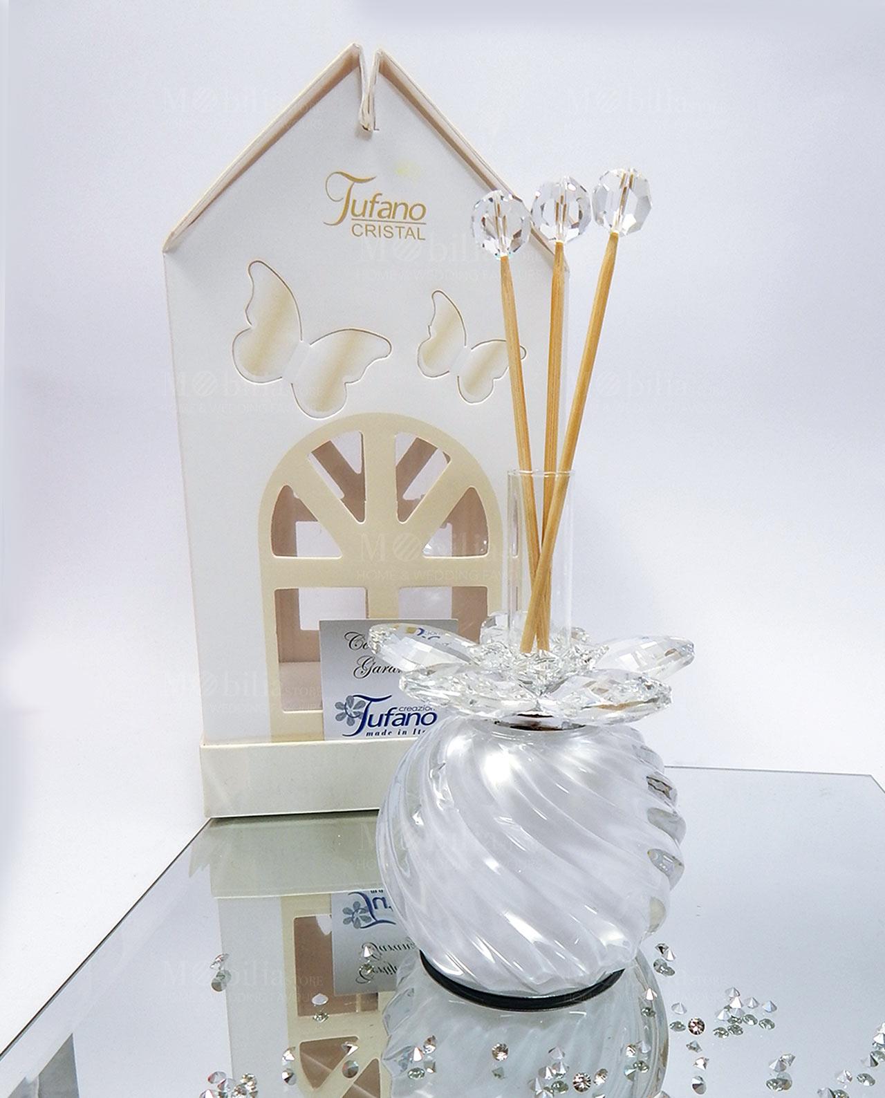 Profumatori ambiente led fiore cristallo swarovski tufano for Mobilia home catalogo
