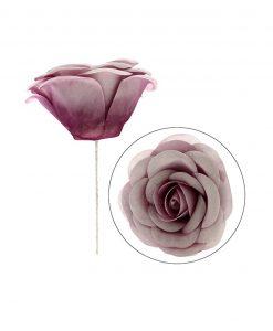 rosa in tessuto per bomboniere fai da te