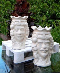 scultura testa di moro ceramica artigianale di caltagirone