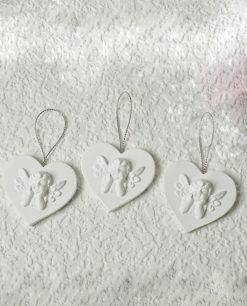 appendini in legno bianco angeli