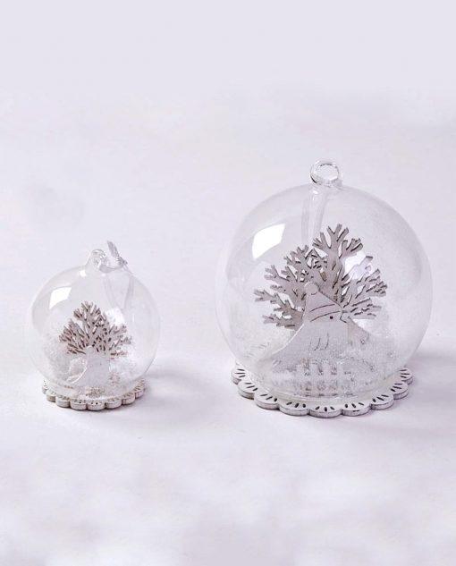 appendino natalizio a sfera di vetro