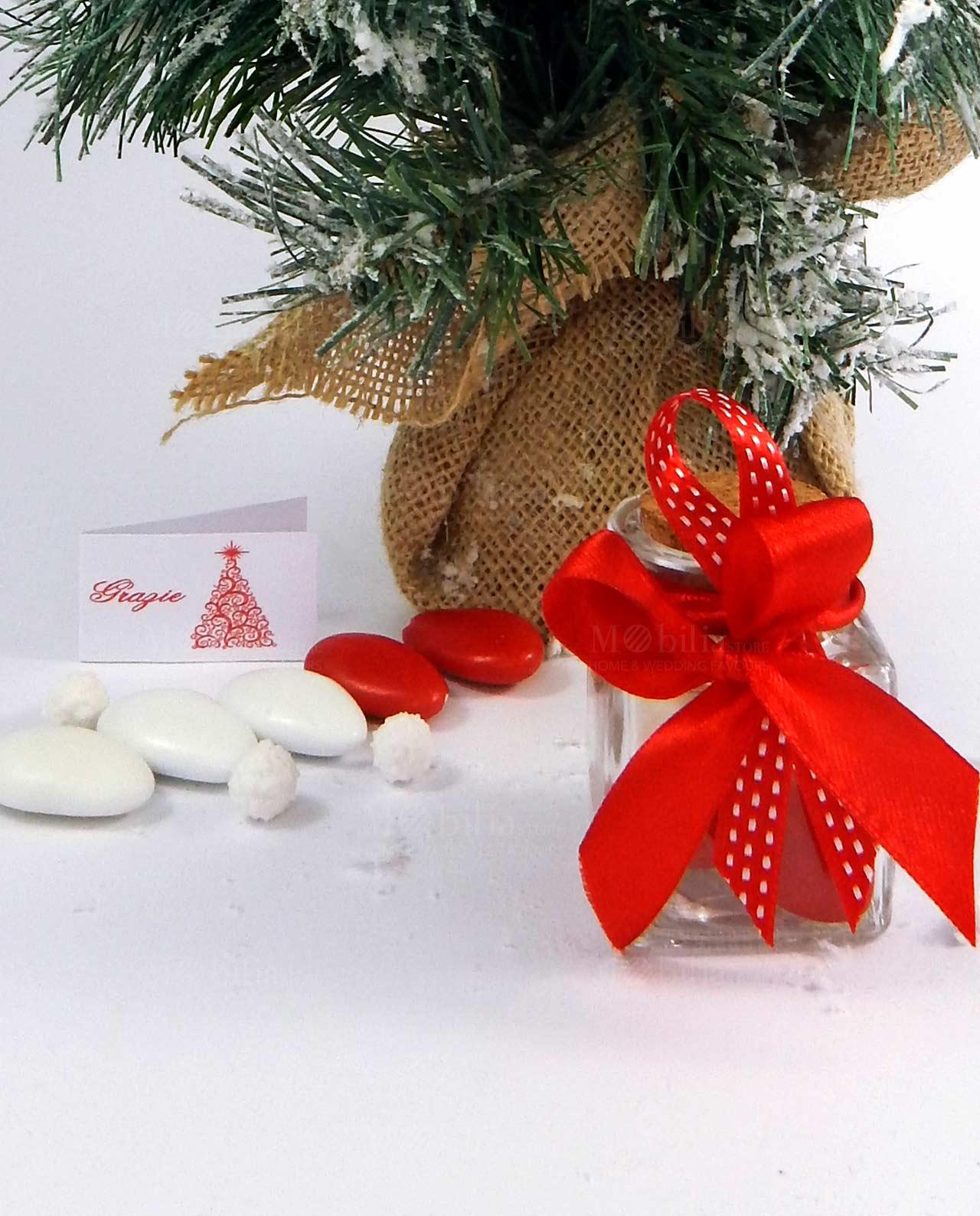 Bomboniere Matrimonio Natalizio : Bomboniera barattolino confezionato natalizio mobilia store