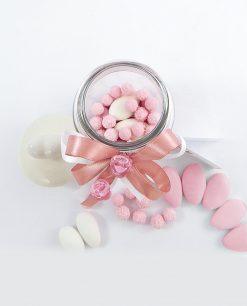 bomboniera barattolo vetro portaconfetti con tappo cuore