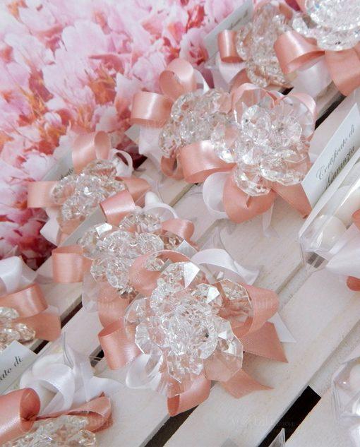 bomboniera fiore calamita in cristallo swarovski