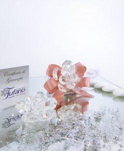 bomboniera fiore cristallo swarovski tufano