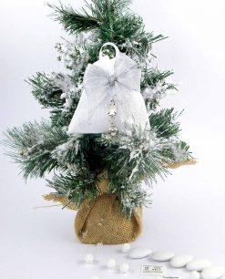 bomboniera natalizia ciondolo angelo con campanellino tabor