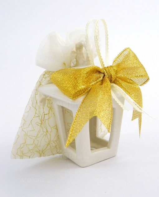 bomboniera natalizia online lanterna portacandela oro