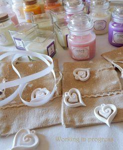 bomboniere candele profumatore con sacchetto