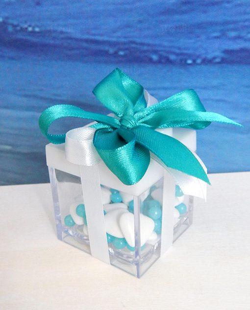 bomboniere compleanno box lego bianche