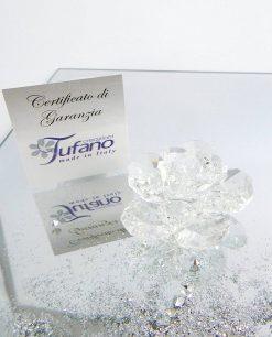 calamita fiore cristallo swarovski tufano