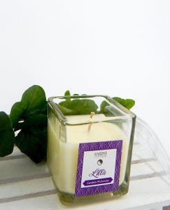 candela profumata con contenitore vetro kharma living