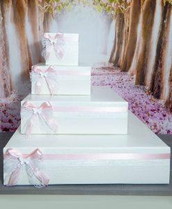cesta porta bomboniera a forma di torta tema farfalle