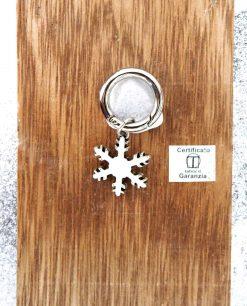 ciondolo portachiavi fiocco di neve in argento tabor