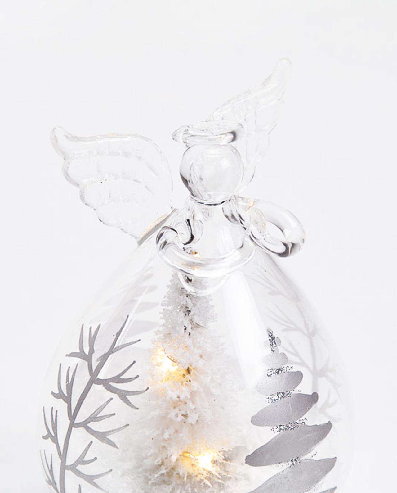 Angelo decorazioni natalizie in vetro con led per - Decorazioni natalizie in vetro ...