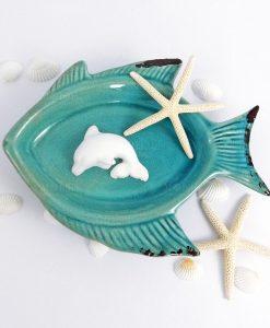 gessetto delfino bianco per bomboniere