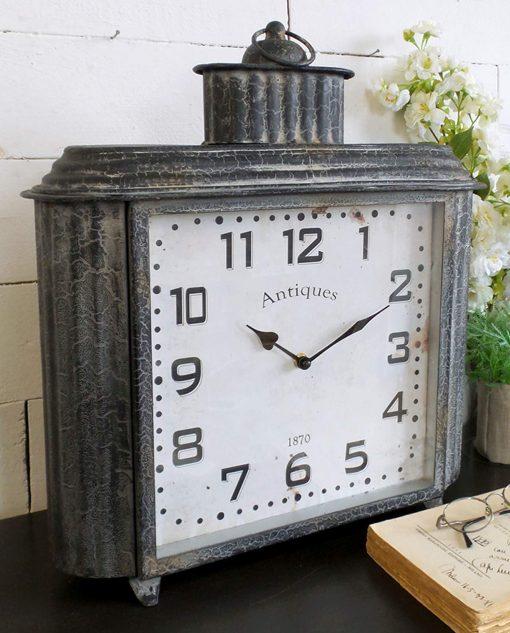 orologio da tavolo vintage grigio