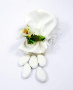 sacchettino in cotone bianco per bomboniere fai da te