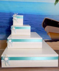 scatole torta porta bomboniere tema mare