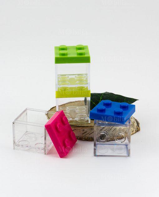 scatolina portaconfetti lego vari colori