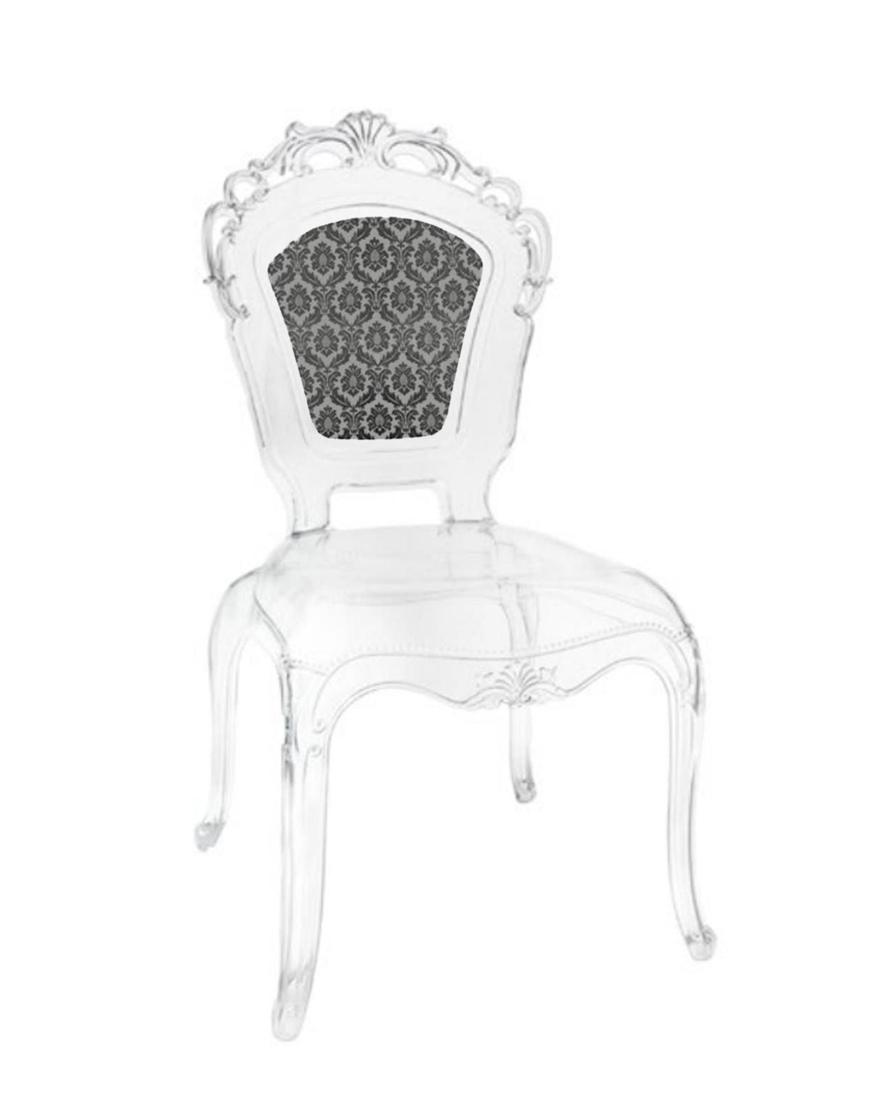 Sedia policarbonato con schienale Louis XIV Baci Milano - Mobilia ...