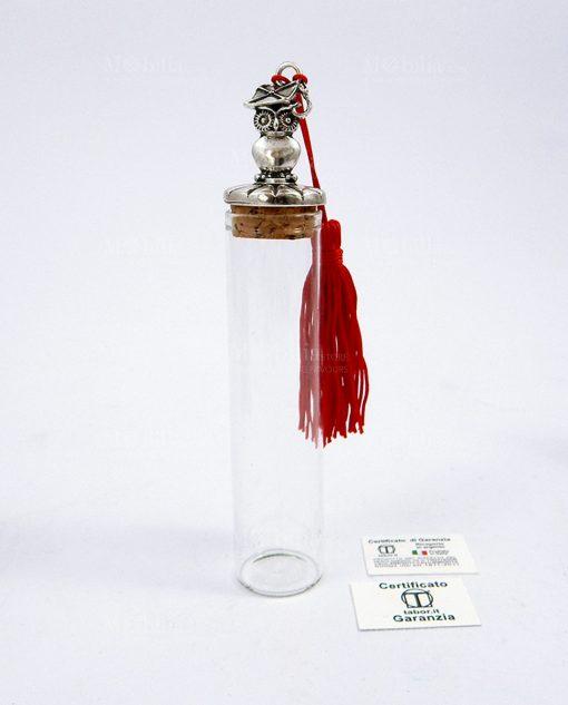 tubo portaconfetti vetro gufo