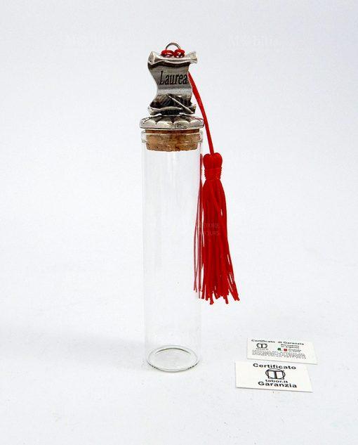 tubo portaconfetti vetro pergamena laurea