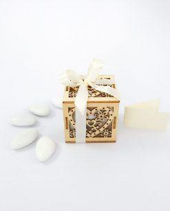 bomboniera scatolina cuore legno