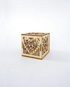 box legno cuore