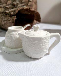 caffettiera zuccheriera in porcellana bianca per bomboniere fai da te