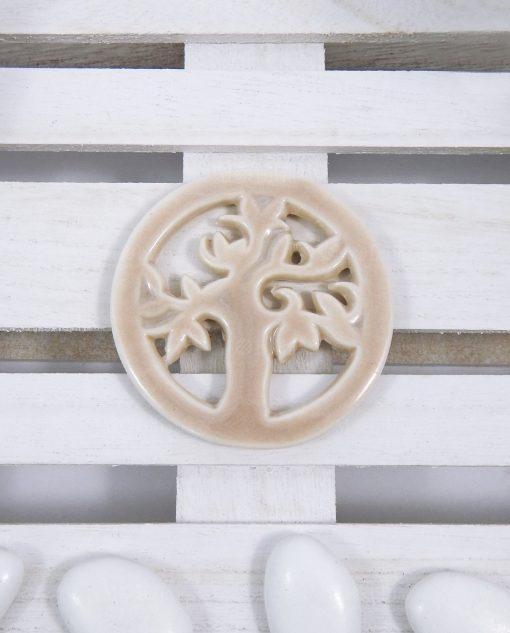 ciondolo albero della vita in ceramica tortora
