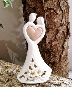 coppia sposi in porcellana bianca per bomboniere online