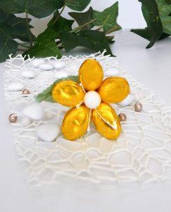 fiore di confetti di sulmona in oro metalizzato