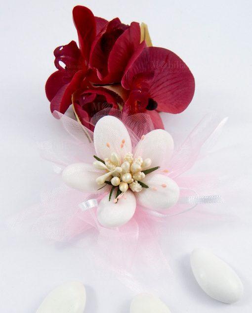 fiore di confetti di sulmona nuvoletta rosa per bomboniere