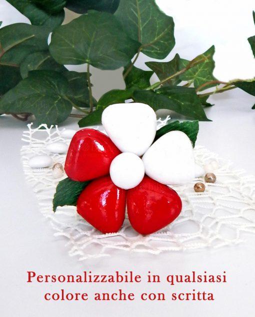 fiore di confetti di sulmona personalizzabile